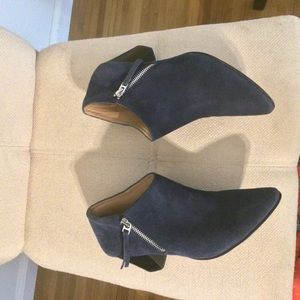 Vince Camuto Blue Suede Booties